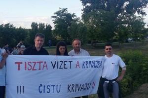 Zeleni posetili Bajšu i potpisali peticiju za rešavanje problema zagađenosti reke Krivaje