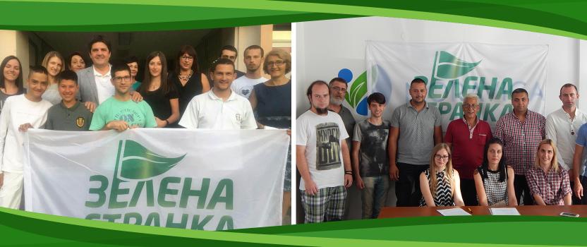 Otvorena još dva opštinska odbora Zelene stranke