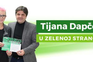 Tijana Dapčević postala članica Zelene stranke!