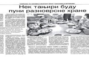 Zelena stranka za zdravu ishranu u vrtićima i školama!