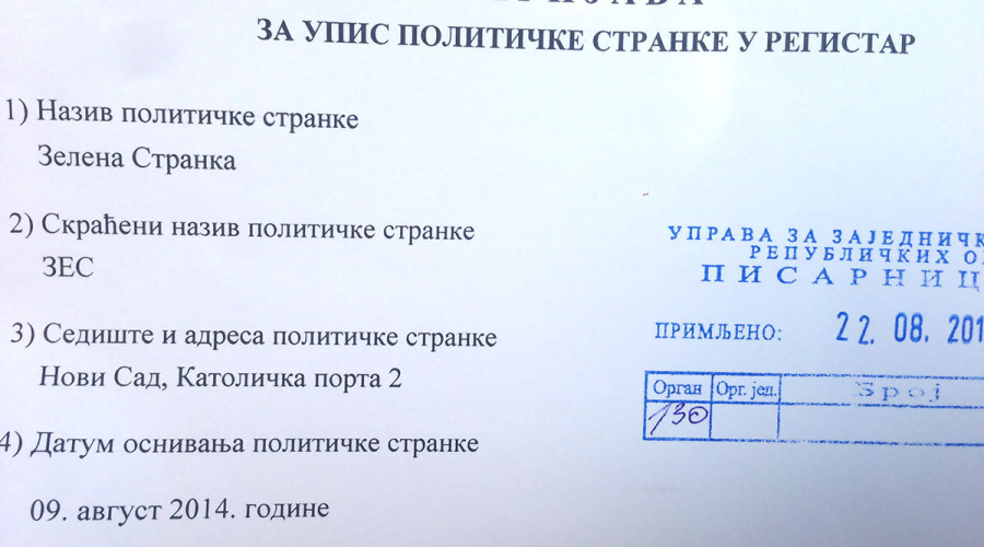 Srbija dobila Zelenu stranku