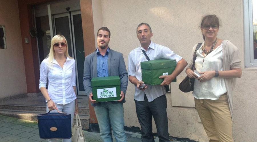 Zelena stranka - predaja potpisa 3