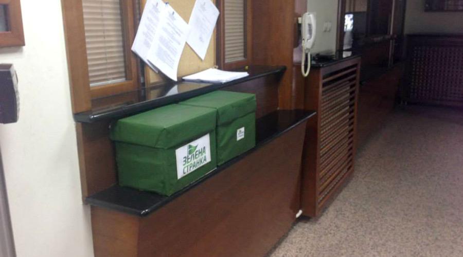 Zelena stranka - predaja potpisa