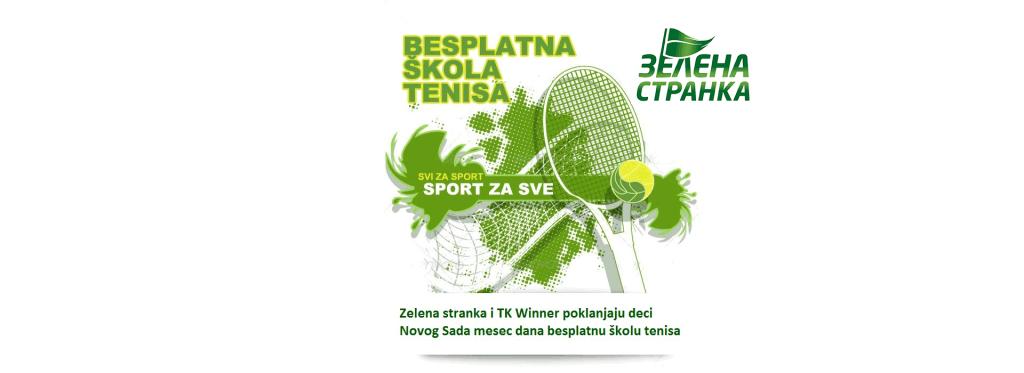 Zelena stranka poklanja deci novog sada besplatnu školu tenisa