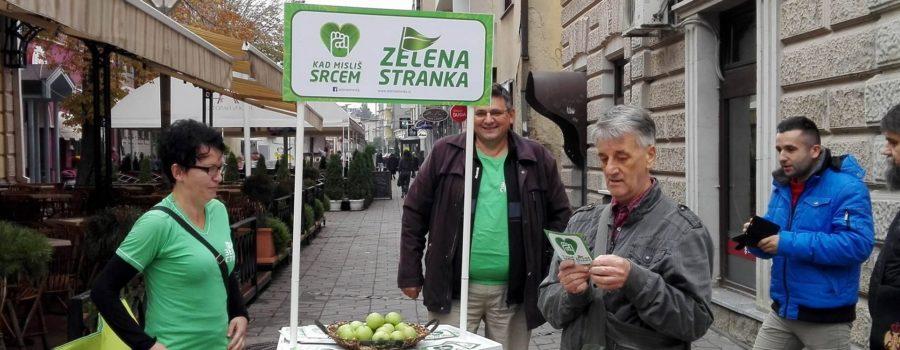 Zeleni aktivisti podsećaju građane na značaj proizvodnje i konzumiranja zdrave hrane!