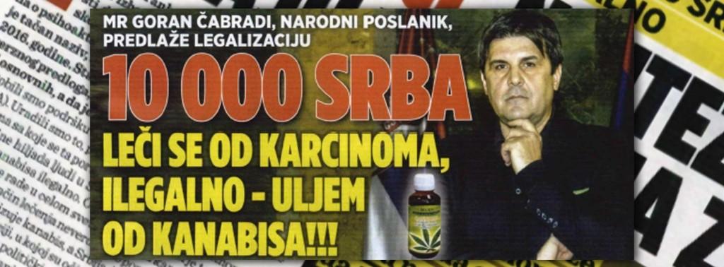 20180214 Intervju mr Goran Cabradi - Ulje od kanabisa - Afera