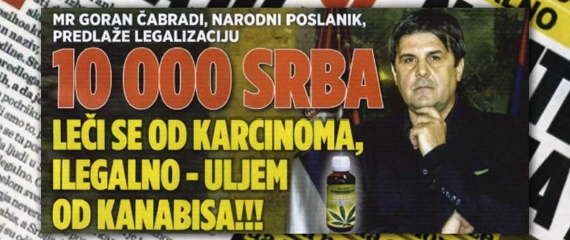 """Autorski tekst u nedeljniku """"Afera"""" – 10.000 ljudi u Srbiji trenutno se od karcinoma leči uljem od kanabisa ilegalno"""