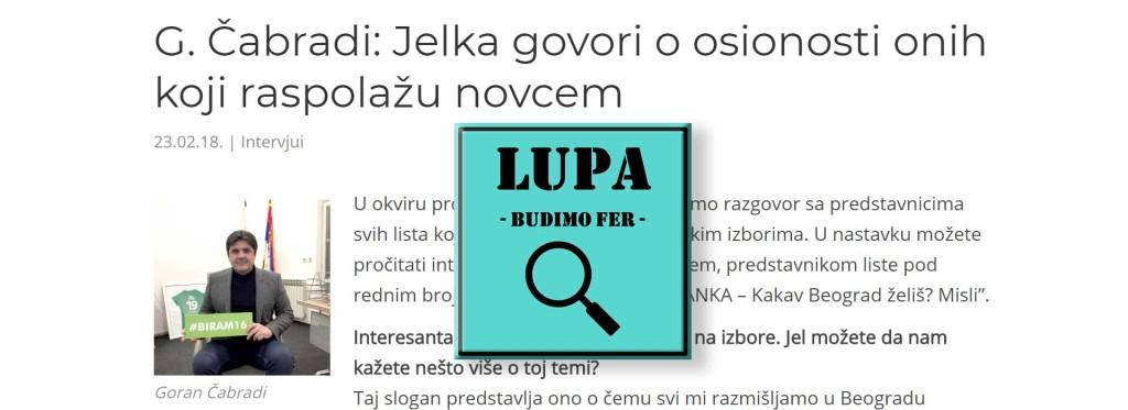 Zelena stranka - Goran Ćabradi - LUPA