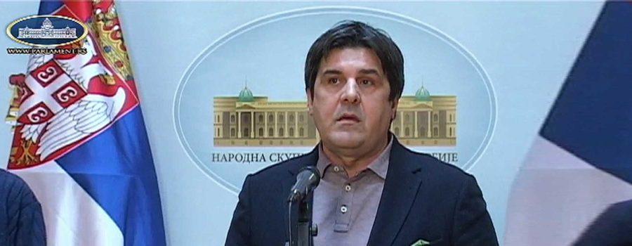 Goran Čabradi u Skupštini
