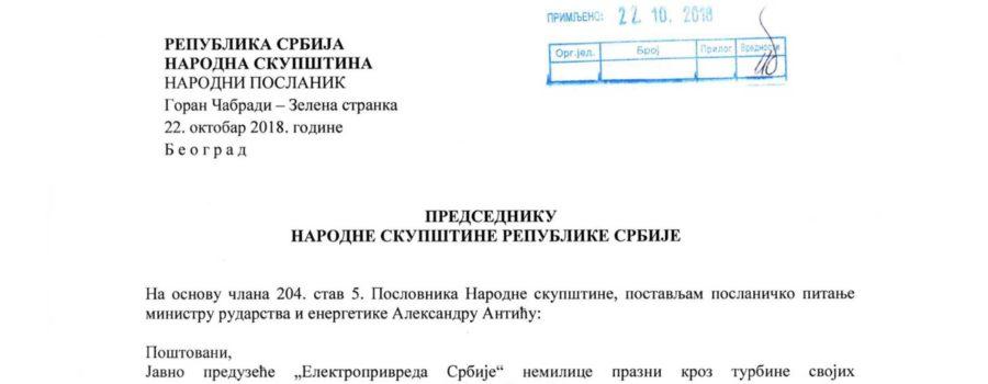 Poslanicko pitanje - Ministru Aleksandru Anticu