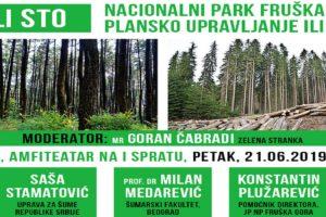 """Okrugli sto: """"Nacionalni park Fruška gora – plansko upravljanje ili pustošenje"""""""