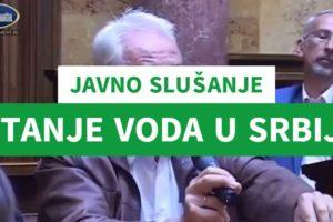 Javno slušanje – stanje voda u Srbiji