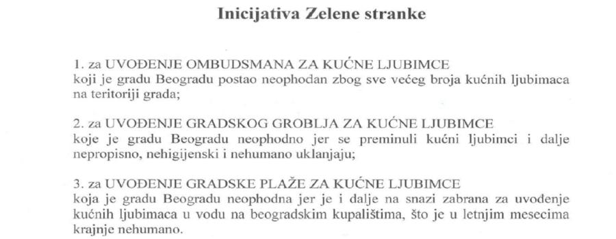 Konačno usvojena inicijativa Zelene stranke od pre 2 godine – Beograd dobija groblje za kućne ljubimce